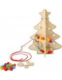 Kerstboom rijgspel