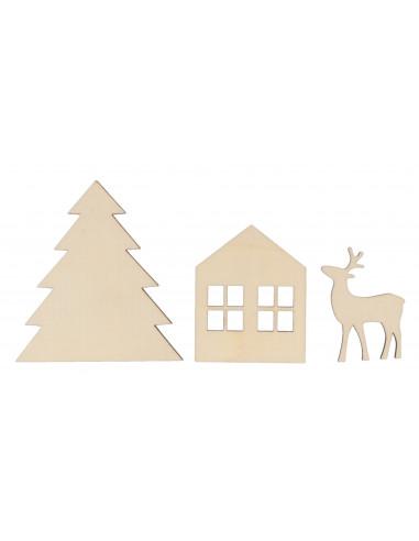 Kerst silhouet knutsel set