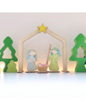 Kerststal Houtspel