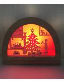 Kerstfeest silhouet