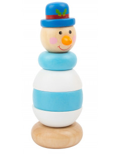 Stapeltoren sneeuwpop