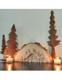 Kerststal houtplak